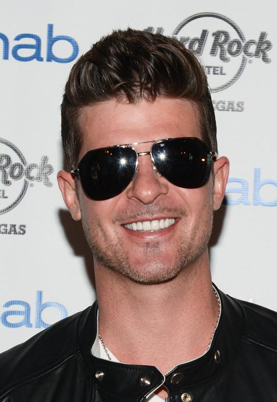 Fans of Robin Thicke at Rehab Pool Party at Hard Rock Hotel Las Vegas