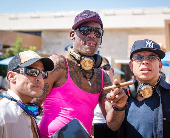 "Dennis Rodman at Sapphire Las Vegas for the ""Craziest Father Day Weekend EVER"""
