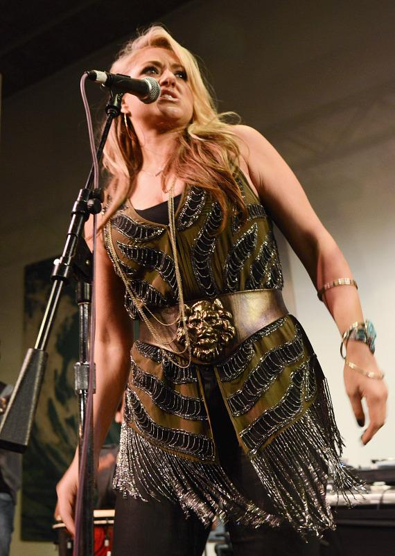Leah Turner performs at Rock Star Beer Festival at Hard Rock Hotel Las Vegas
