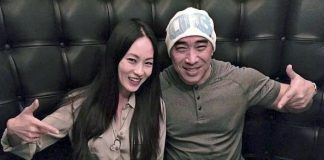 Actor Ron Yuan and Actress Sheena Chou dine at Andiamo Italian Steakhouse at the D Las Vegas