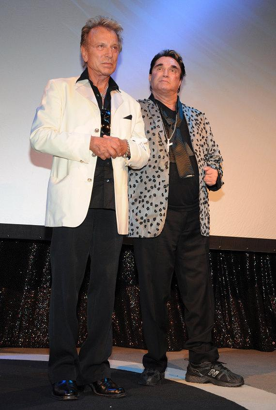 Siegfried Fischbacher and Roy Horn celebrate Roy's birthday at The Mirage