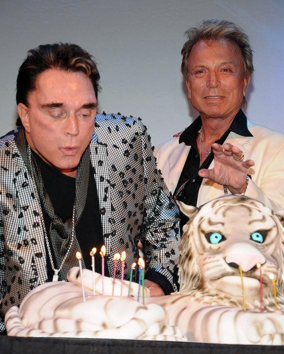 Roy Horn and Siegfried Fischbacher celebrate Roy's birthday at The Mirage