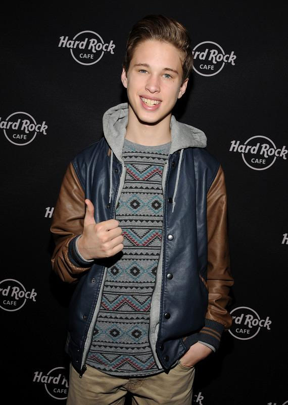 Fan kisses Ryan Beatty at Hard Rock Cafe on the Strip