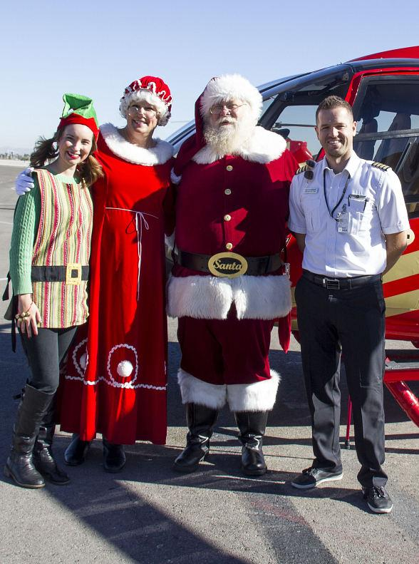 Santa Claus Arrives at Opportunity Village's Magical Forest via Papillon Group Helicopter