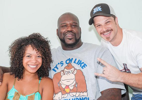 Shaquille O'Neal with Mark Shunock at Azure Luxury Pool at The Palazzo