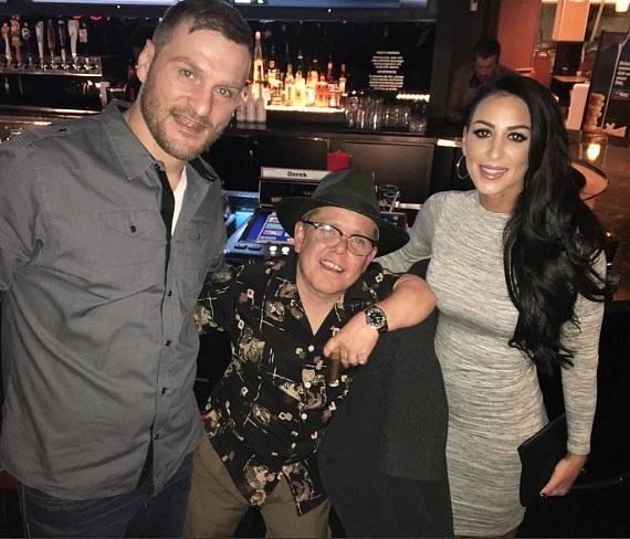 UFC Heavyweight Fighter Stipe Miocic and fiancé Ryan Marie Carney dine at Andiamo Italian Steakhouse inside the D Las Vegas