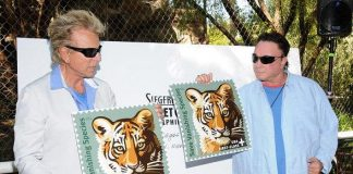 "Siegfried & Roy introduce ""Save Vanishing Species"" U.S. Postal Stamp"