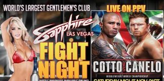 "Watch the ""Fight of the Year"" Miguel Cotto vs. Canelo Alvarez at Sapphire Las Vegas Saturday, November 21"
