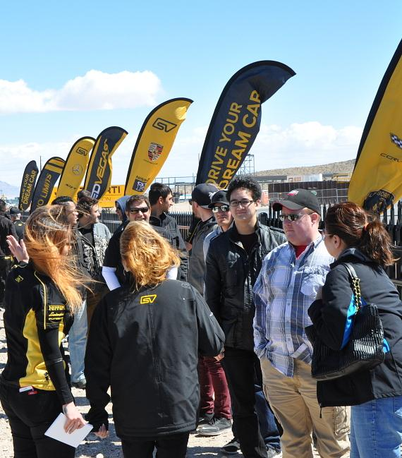 Guests line up for SPEEDVEGAS opening day