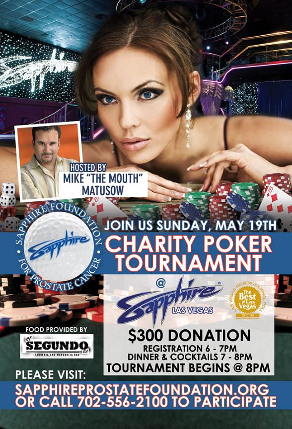 Sapphire Las Vegas to Host Charity Poker Tournament May 19