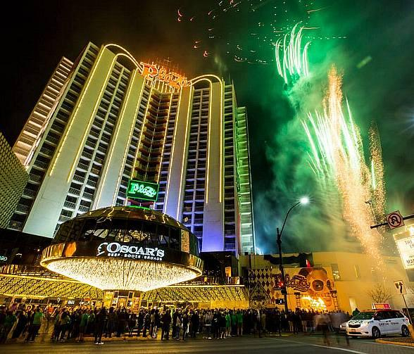 Plaza Hotel & Casino Celebrates St. Patrick's Day with Green Fireworks and Dome Party March 16