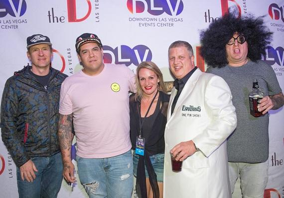 Sublime with Rome with the D Owner Derek Stevens and wife Nicole Parthum at DLV Events Center in Downtown Las Vegas