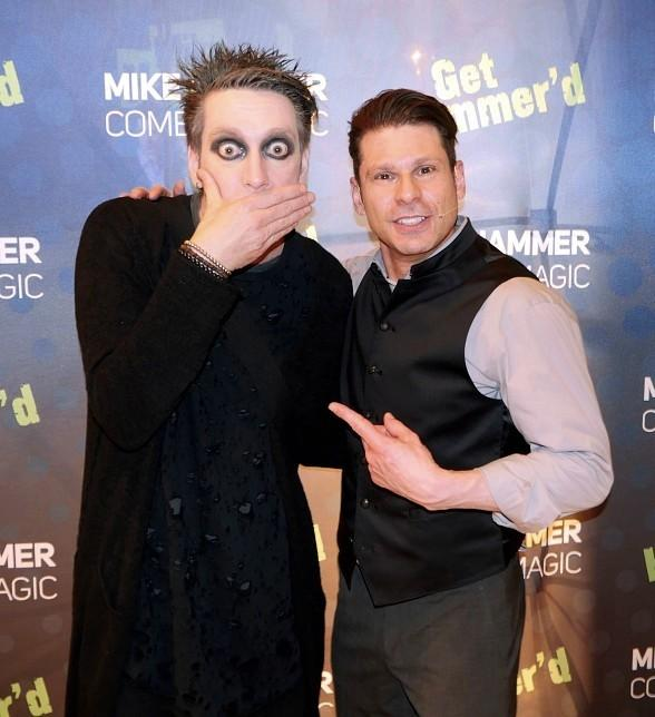 """Tape Face gets """"Hammered"""" at """"The Mike Hammer Comedy Magic Show"""" at The Four Queens Hotel & Casino"""