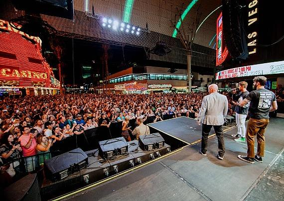 The Chainsmokers Viva Vision Light Show at Fremont Street Experience and the D Casino Hotel Las Vegas