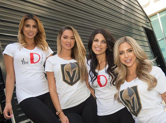 The D Casino Hotel Models at Golden Knights Partnership announcement