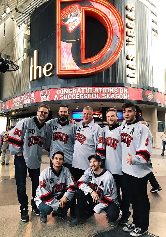 UNLV Rebel Hockey Players Use the D Casino Hotel as a Fun Break from the Ice
