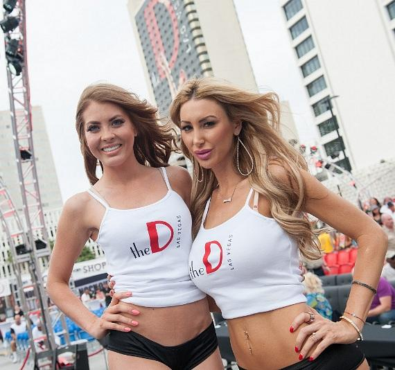 """Ring Girls at """"Knockout Night at the D"""" in Las Vegas"""