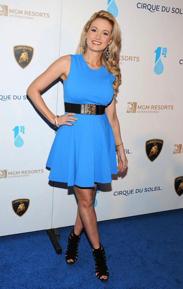 Holly Madison at One Night For One Drop Charity Event at Hyde Bellagio in Las Vegas
