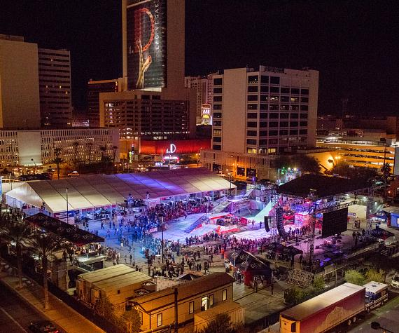 Snowboarding at The Las Vegas Throw Down Action Sports/Music Festival