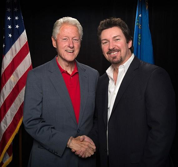 President Bill Clinton with Richard Wilk
