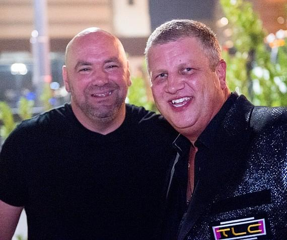"UFC President Dana White with Owner Derek Stevens at Downtown Las Vegas Events Center for ""I Love The 90s"" Concert"