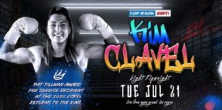 2020 ESPY Winner Kim Clavel Returns to the Boxing Ring July 21 LIVE on ESPN