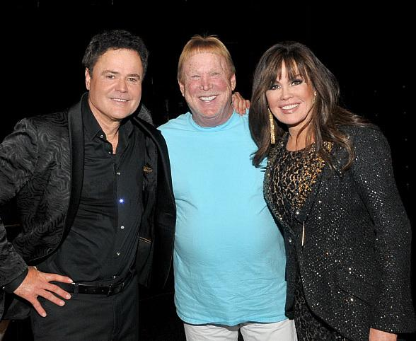 Raiders Owner Mark Davis Meets Donny and Marie Osmond Before Final Shows at Flamingo Las Vegas