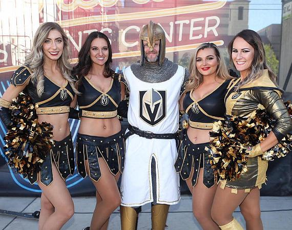 The Vegas Golden Aces at Vegas Golden Knights Official Watch Party at Downtown Las Vegas Events Center