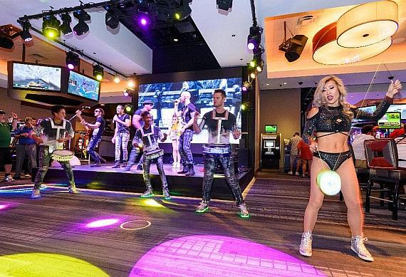 Some of the live entertainment found almost daily at The LINQ Hotel + Experience