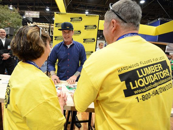 Vanilla Ice greets fans at NAHB International Builders Show in Las Vegas