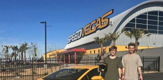 Youtube Stars Chris and Crawford Collins Drive at SPEEDVEGAS
