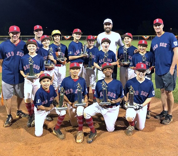 Vegas Golden Knights player Alex Tuch at Summerlin South Little League Championship Game 2018