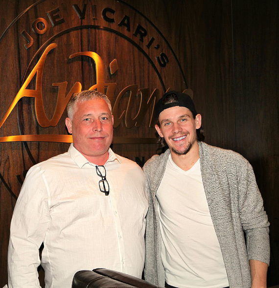 Vegas Golden Knights Erik Haula and Father dine at Andiamo Las Vegas