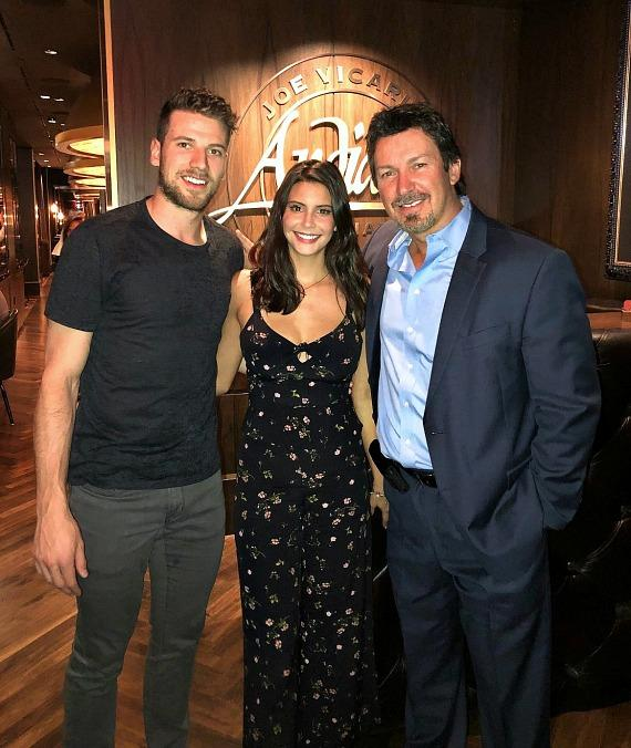 Vegas Golden Knights' Shea Theodore Fuels up at Andiamo Italian Steakhouse