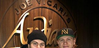Vegas Golden Knight, William Karlsson, Dines at Andiamo With Some Hockey Friends