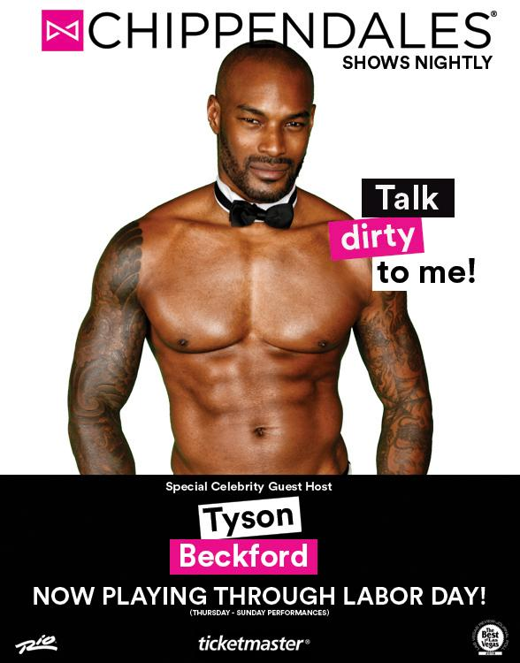Special Guest Tyson Beckford Now Performing at Chippendales in Las Vegas