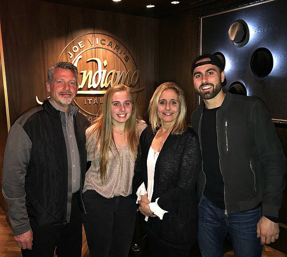 Vegas Golden Knights Player Alex Tuch and Family Enjoy Dinner at Andiamo Italian Steakhouse