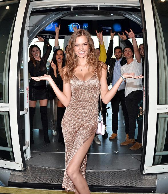 Victoria's Secret Angel Josephine Skriver Celebrates Birthday Atop the High Roller Observation Wheel