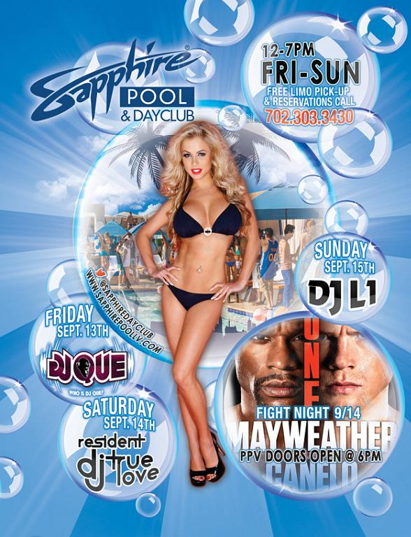 Sapphire Pool & Dayclub to host DJ Que on Friday, September 13