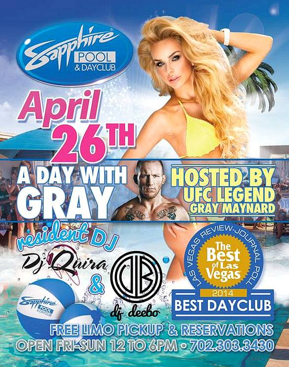 Open Bar & More at Sapphire Dayclub for Opening Weekend April 25-27; Grand Opening May 2-4