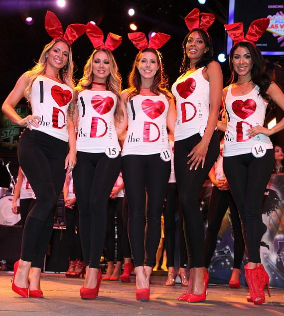 Winners of the Miss D Bunny Hunt at The D Casino Hotel Las Vegas