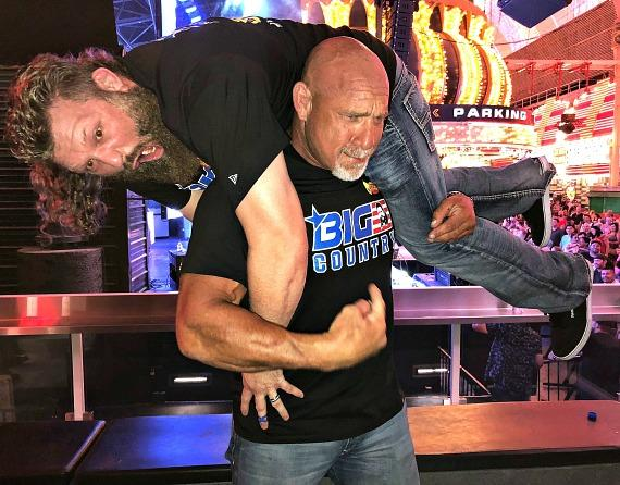 """WWE Goldberg and MMA """"Big Country"""" at The D Casino Hotel Las Vegas"""