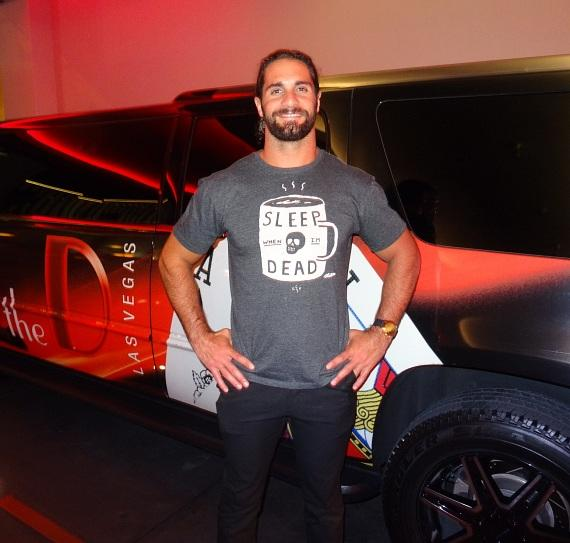"""Superstar WWE Wrestler Seth """"The Architect"""" Rollins dines at Andiamo Italian Steakhouse in the D Casino Hotel"""