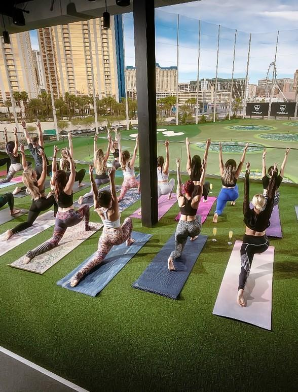 Enjoy a Mimosa with Your Yoga at Topgolf Las Vegas with the Return of
