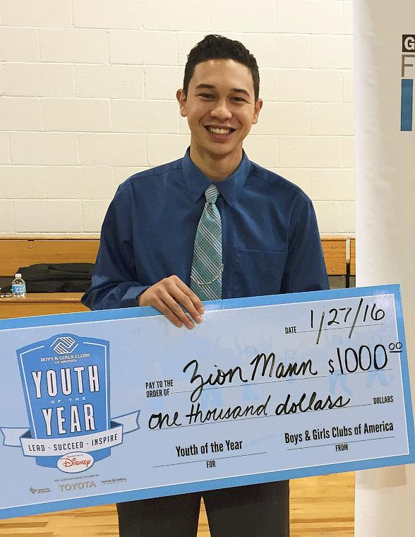 Exceptional Las Vegas Teen Zion Mann Wins Youth of the Year Honor for Boys & Girls Clubs of Southern Nevada
